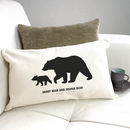 Personalised 'Daddy And Baby Bear' Silhouette Cushion