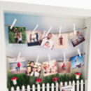 Personalised Garden Peg Frame