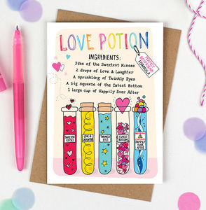 Perfect Boyfriend Love Potion Card