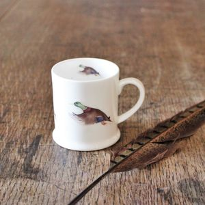 Mallard Duck Bone China Mini Mug