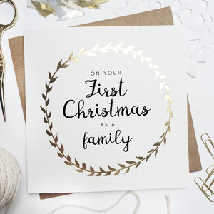 'First Christmas As A Family' Foiled Card - what's new