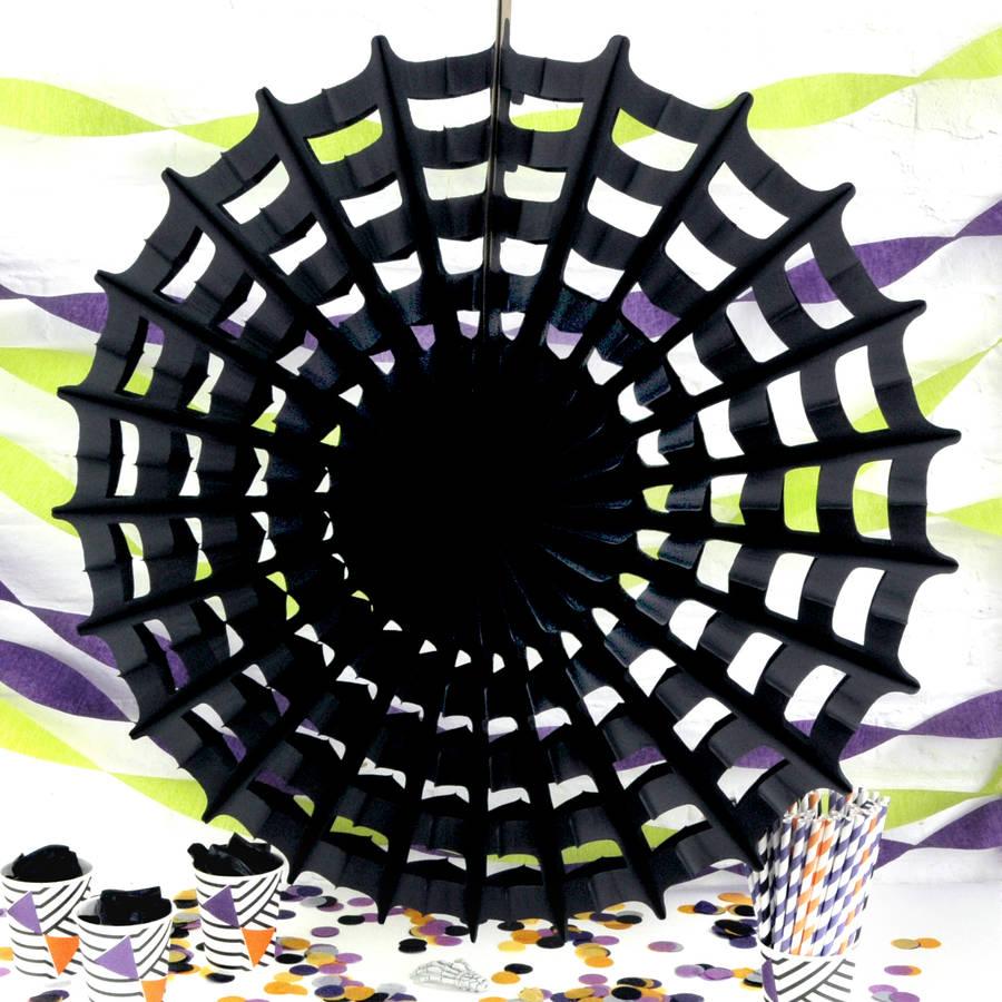 Halloween Paper Spider Web Decoration