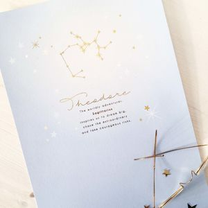 Personalised Star Sign Foil Print