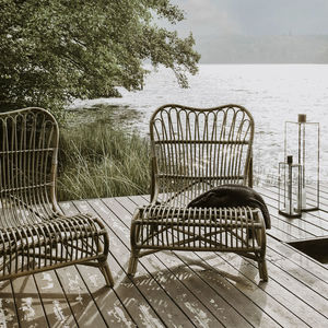 Rattan Lounge Chair - 70th birthday gifts