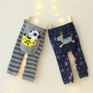 Knitted Reindeer And Panda Baby Leggings