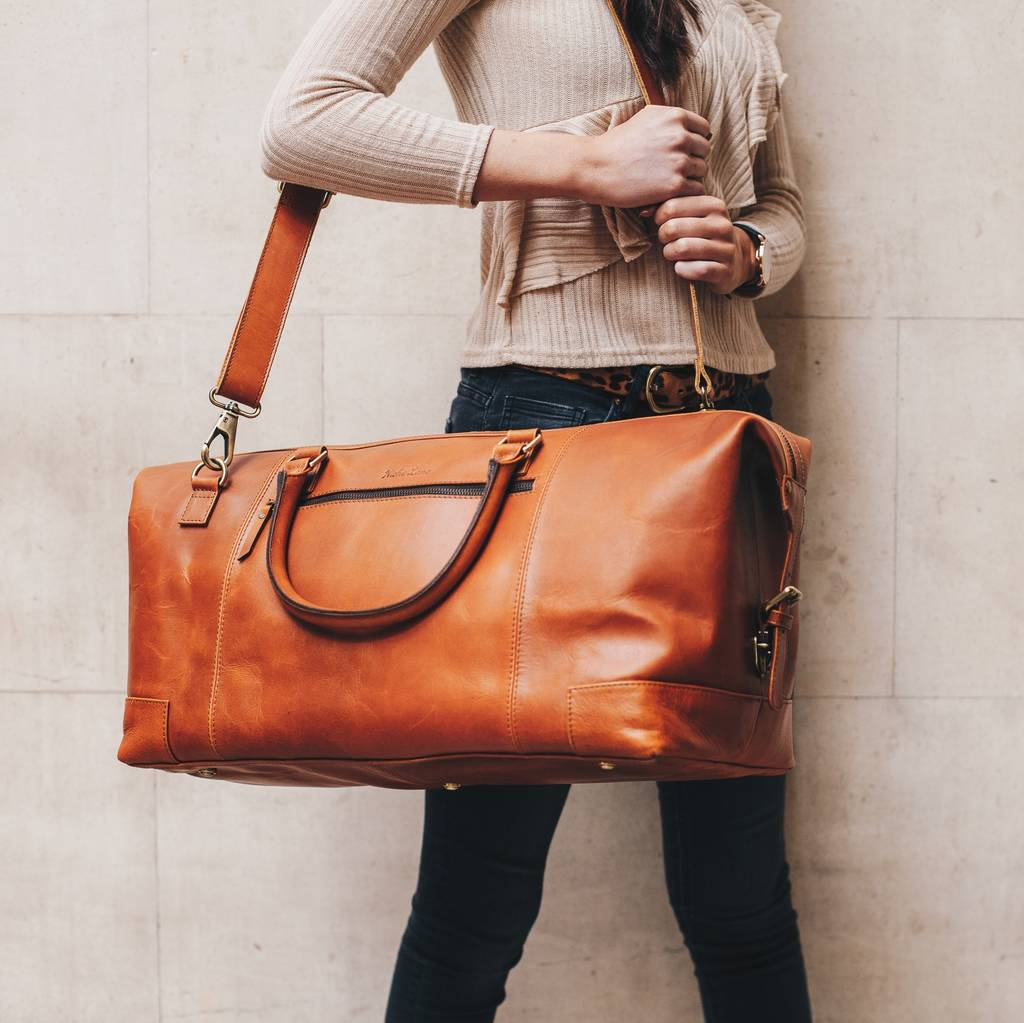 1932474ef personalised leather holdall weekend bag   aviator   by niche lane ...