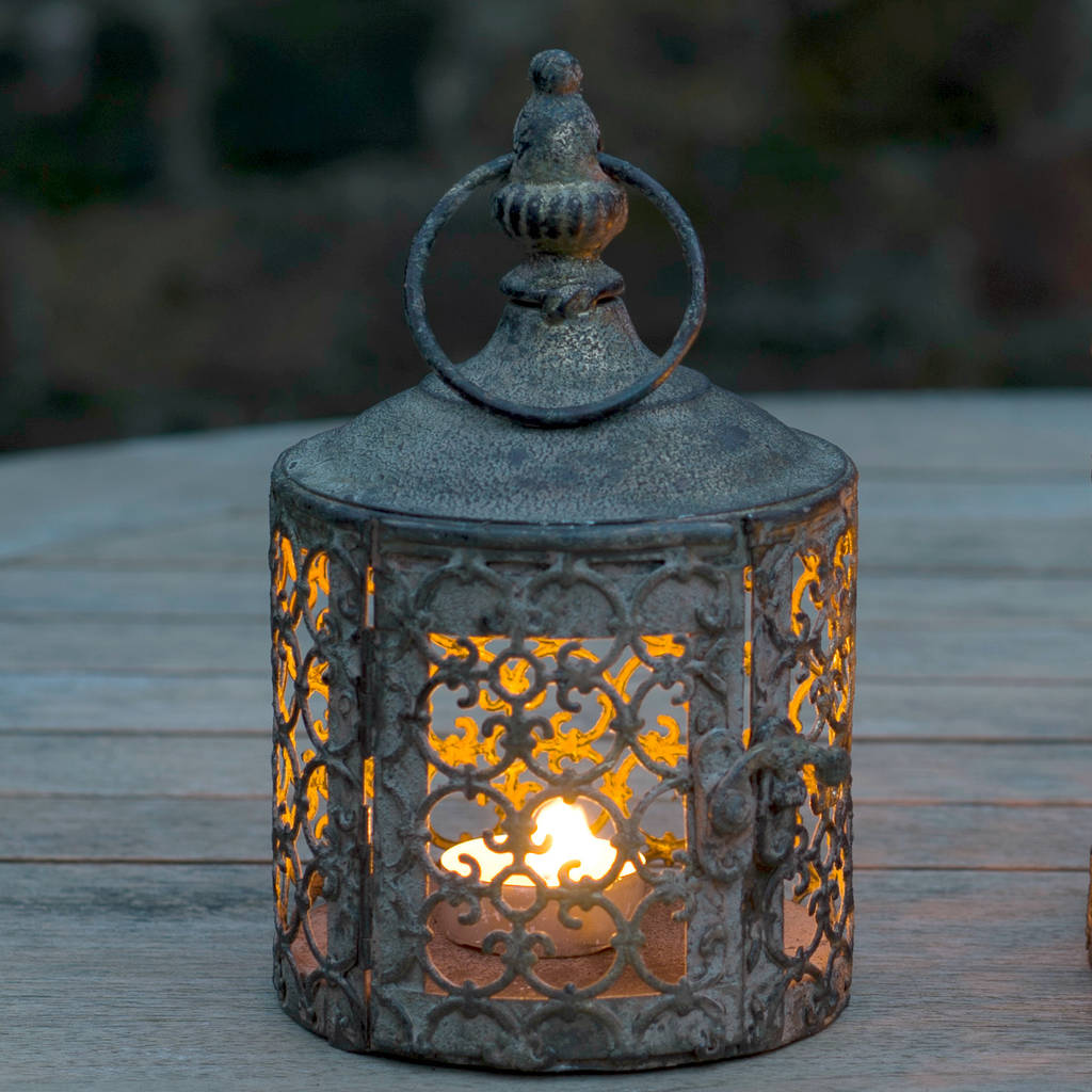 baby lattice moroccan style candle lantern by the flower