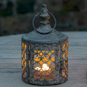Baby Lattice Moroccan Style Candle Lantern - outdoor living