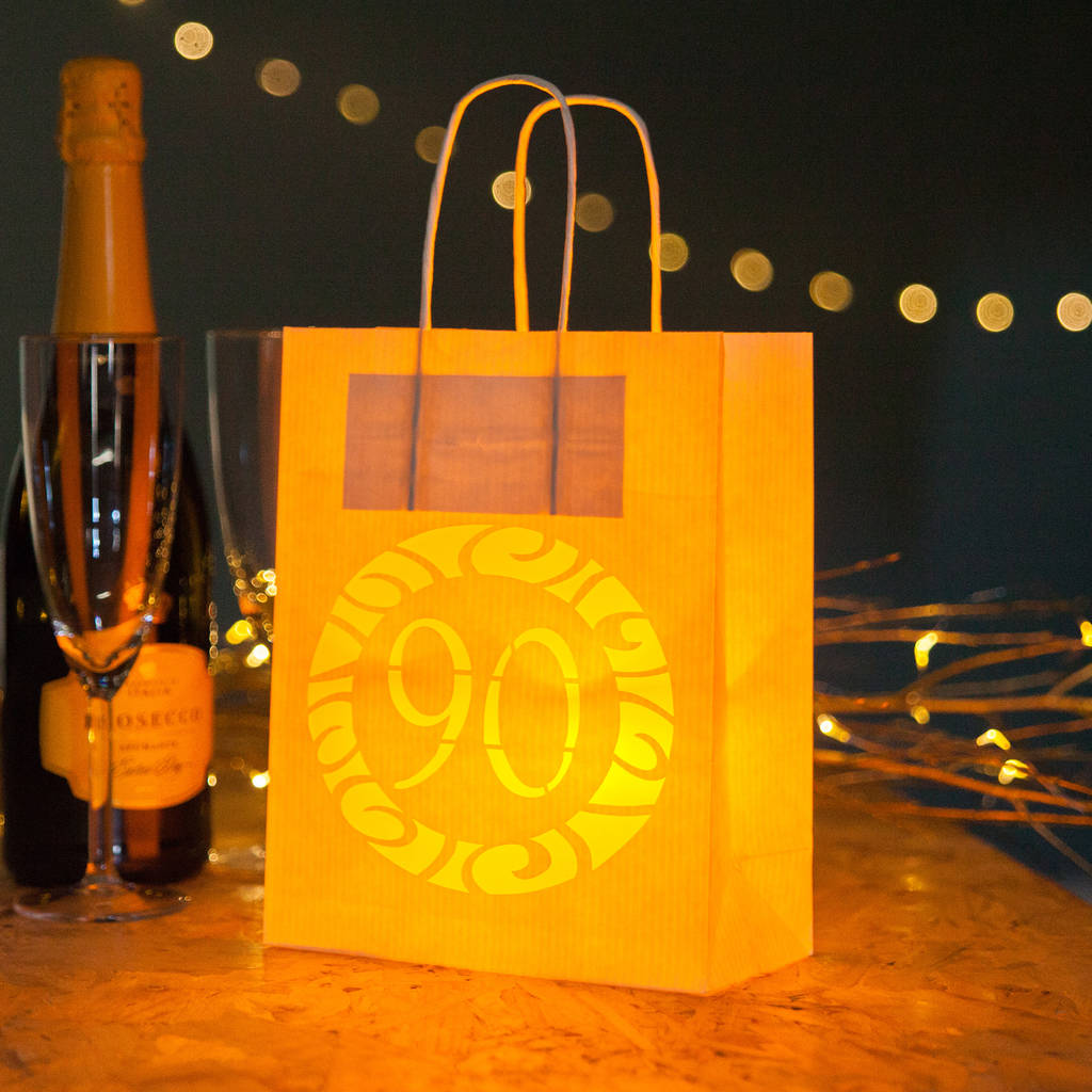 90th Party Decorations Gift Bag