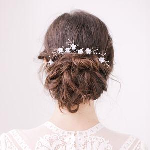 Wedding Hair Pins Floral - tiaras & hair combs