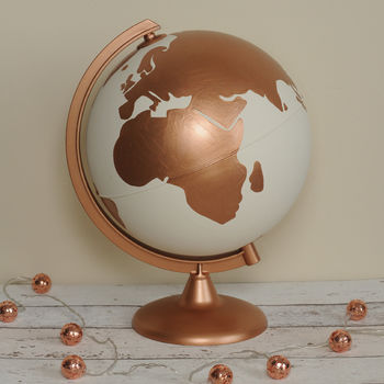 Personalised Couples Hand Painted Globe