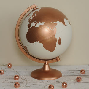 Personalised Couples Hand Painted Globe - decorative accessories