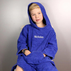 Personalised Children's Hooded Poncho - bathtime