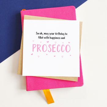 Personalised Prosecco Birthday Card