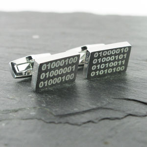 Best Dad Binary Code Cufflinks - gifts by budget