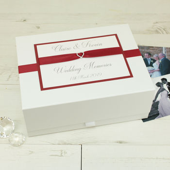 Personalised Crystal Heart Memory Box