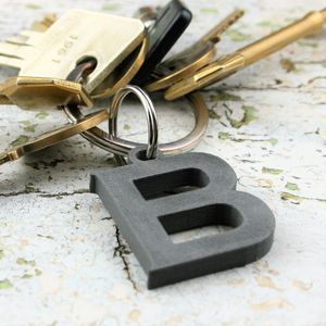 Personalised Initial And Message Keyring - keyrings