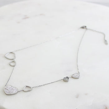 Crystal Coated Heart Necklace