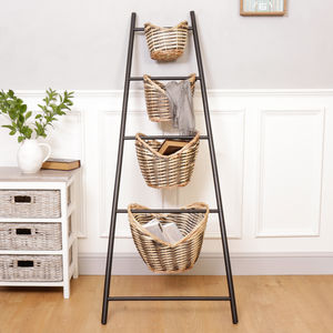 Four Basket Industrial Storage Ladder