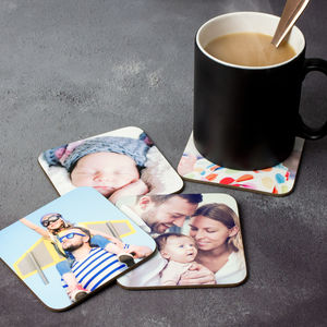 Personalised Photo Coasters Set Of Four - stocking fillers