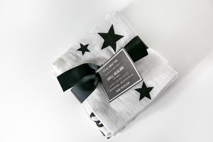 Three Pack Organic Lucky Stars Muslin Squares