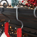 Forged Iron Christmas Stocking Minimal Hook