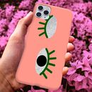 Wink Eye Phone Case With Glitter Detail, More Colours