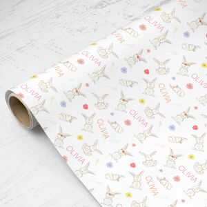 Personalised Wrapping Paper Rabbits