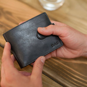 Vintage Personalised Leather Wallet - mens