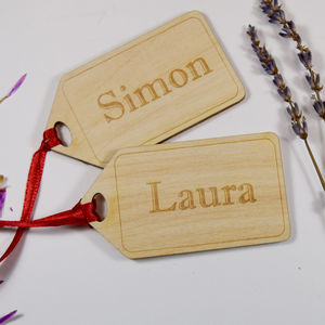Personalised Parcel Gift Tags - ribbon & wrap