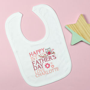 Personalised First Father's Day Bib - baby care