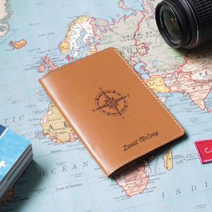Personalised Leather Passport Holder - gifts for travel-lovers