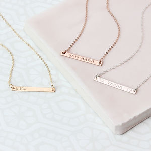 Minimalist Personalised Bar Necklace - minimal jewellery