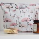 Wash Bag With Flamingo Party Print