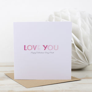 Lots Of Love Valentines Day Card - valentine's cards