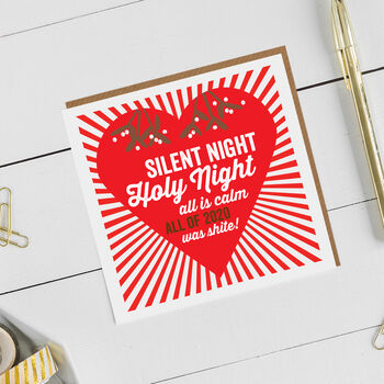 Funny 2020 Christmas Heart Card Or Pack