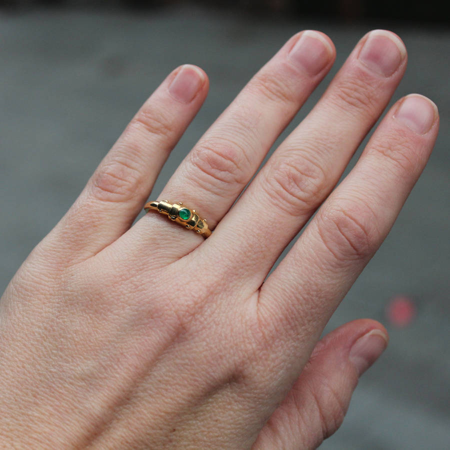 bond together emerald gold plated ring by alludio ...