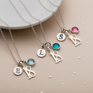 18th Birthday Birthstone Necklace