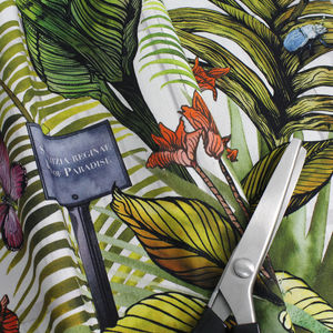 Tropical Glasshouse Botanical Print Fabric - throws, blankets & fabric