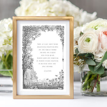 C.S.Lewis 'The Great Story' Romantic Quote Print