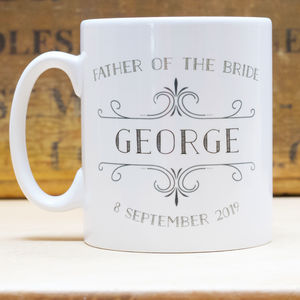 Wedding Father Of The Bride Personalised Mug