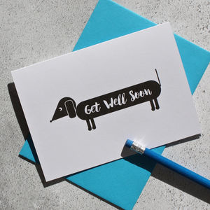 Dog Themed Get Well Card - get well soon cards