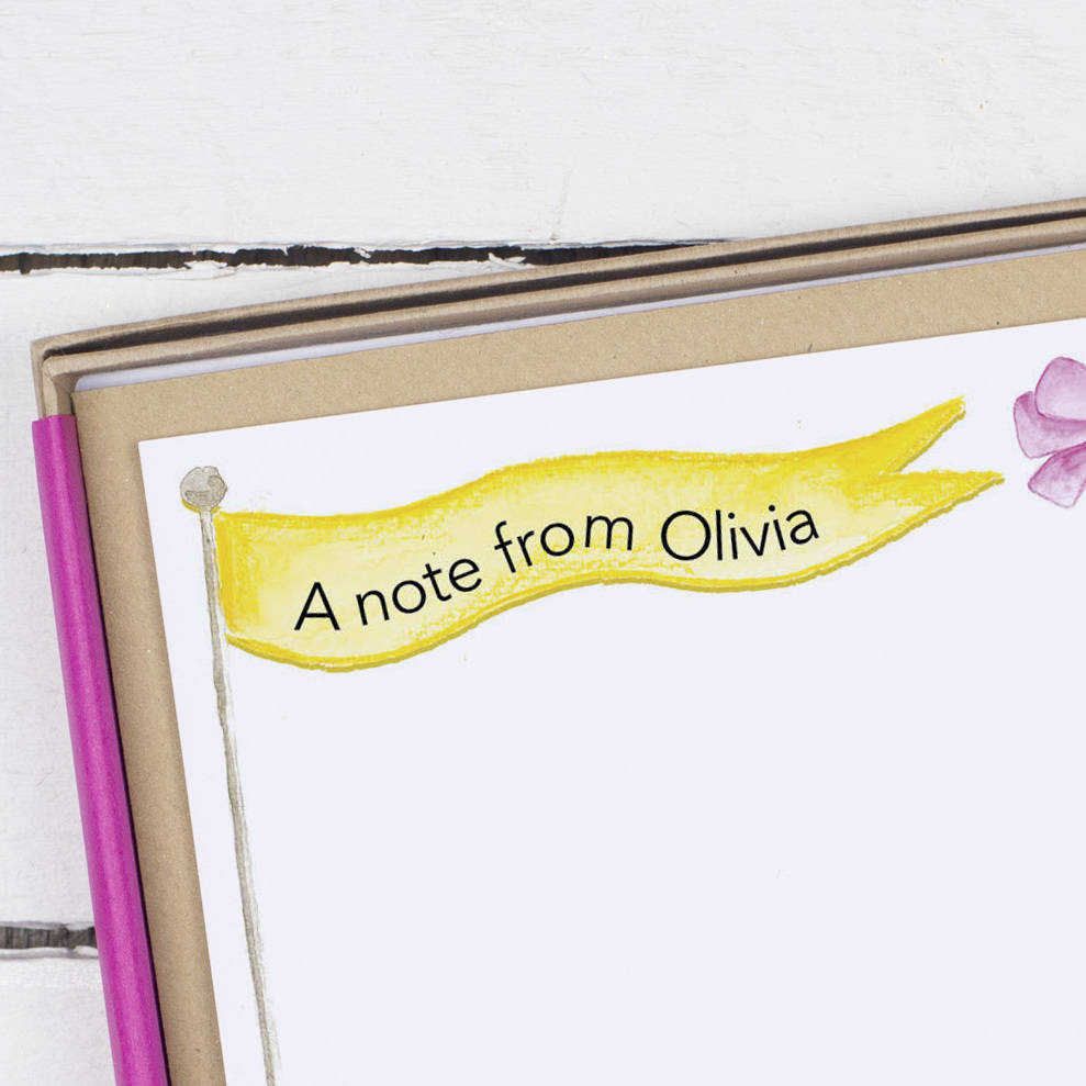 Personalised Princess Children 39 S Writing Set By Alexia