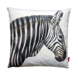 Majestic Zebra Cushion - patterned cushions