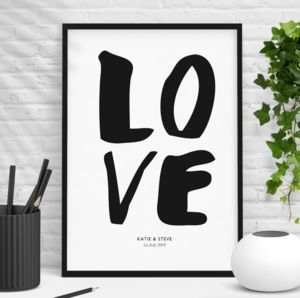 'Love' Personalised Wedding Gift - personalised