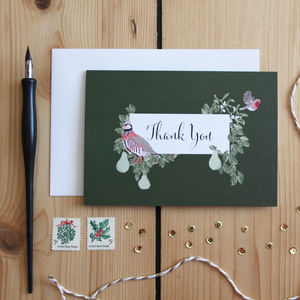 Festive Thank You Card - thank you cards