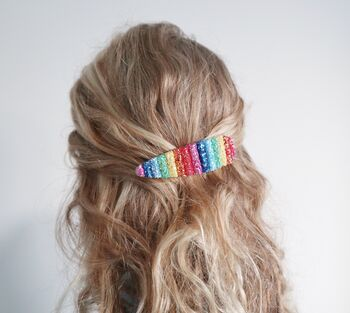 Rainbow Multi Colour Hair Clip