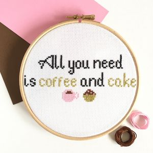 Coffee And Cake Cross Stitch Kit