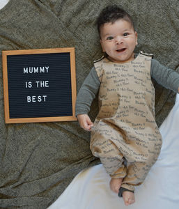 'Mummy Is The Best' Cappuccino Romper