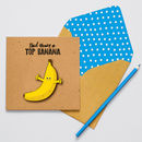 Handmade Top Banana Personalised Father's Day Card